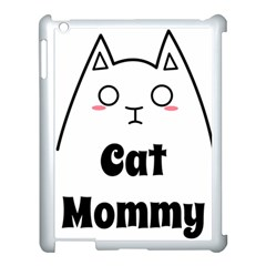 Love My Cat Mommy Apple Ipad 3/4 Case (white) by Catifornia