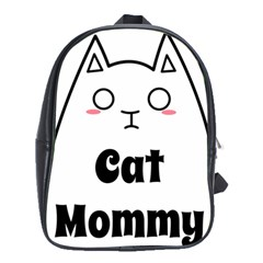 Love My Cat Mommy School Bags (xl)  by Catifornia