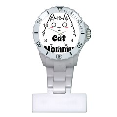 Love My Cat Mommy Plastic Nurses Watch by Catifornia