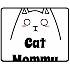 Love My Cat Mommy Double Sided Fleece Blanket (medium)  by Catifornia