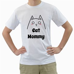 Love My Cat Mommy Men s T Shirt (white)