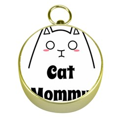 Love My Cat Mommy Gold Compasses by Catifornia