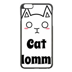 Love My Cat Mommy Apple Iphone 6 Plus/6s Plus Black Enamel Case by Catifornia
