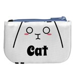 Love My Cat Mommy Large Coin Purse Back