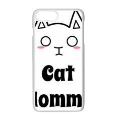 Love My Cat Mommy Apple Iphone 7 Plus White Seamless Case