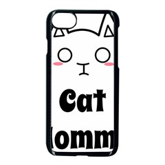 Love My Cat Mommy Apple Iphone 7 Seamless Case (black) by Catifornia