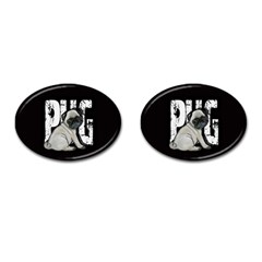 Pug Cufflinks (oval) by Valentinaart