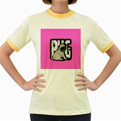 Pug Women s Fitted Ringer T Shirts