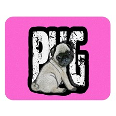 Pug Double Sided Flano Blanket (large)