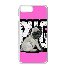 Pug Apple Iphone 7 Plus White Seamless Case by Valentinaart