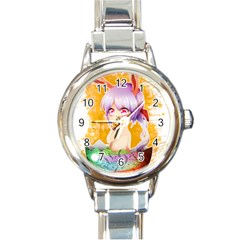 Easter Bunny Girl Round Italian Charm Watch by Catifornia