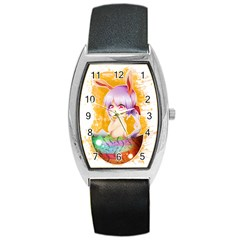 Easter Bunny Girl Barrel Style Metal Watch by Catifornia
