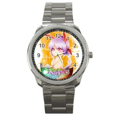 Easter Bunny Girl Sport Metal Watch
