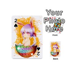 Easter Bunny Girl Playing Cards 54 (mini)  by Catifornia