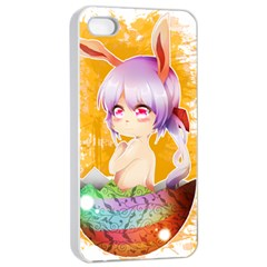 Easter Bunny Girl Apple Iphone 4/4s Seamless Case (white) by Catifornia
