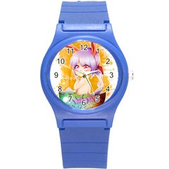 Easter Bunny Girl Round Plastic Sport Watch (s) by Catifornia