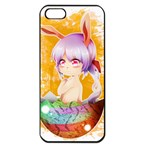 Easter Bunny Girl Apple iPhone 5 Seamless Case (Black) Front