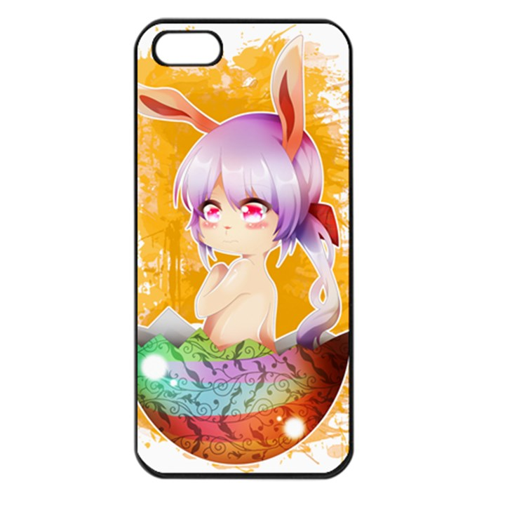 Easter Bunny Girl Apple iPhone 5 Seamless Case (Black)