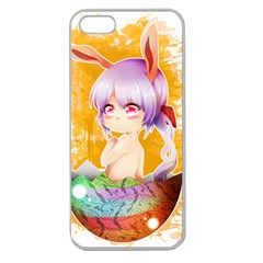 Easter Bunny Girl Apple Seamless Iphone 5 Case (clear) by Catifornia
