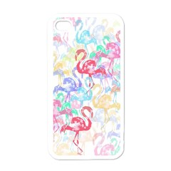 Flamingo Pattern Apple Iphone 4 Case (white) by Valentinaart