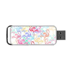 Flamingo Pattern Portable Usb Flash (one Side) by Valentinaart