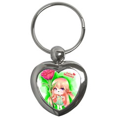Happy Mother s Day Furry Girl Key Chains (heart)  by Catifornia