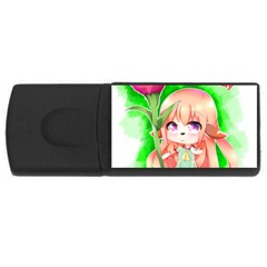 Happy Mother s Day Furry Girl Usb Flash Drive Rectangular (4 Gb) by Catifornia