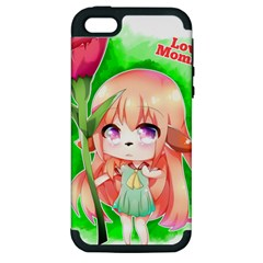 Happy Mother s Day Furry Girl Apple Iphone 5 Hardshell Case (pc+silicone) by Catifornia