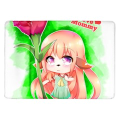 Happy Mother s Day Furry Girl Samsung Galaxy Tab 10 1  P7500 Flip Case by Catifornia