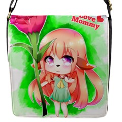Happy Mother s Day Furry Girl Flap Messenger Bag (s)