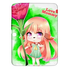 Happy Mother s Day Furry Girl Samsung Galaxy Tab 3 (10 1 ) P5200 Hardshell Case  by Catifornia