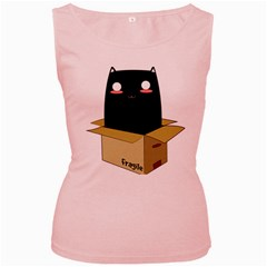 Black Cat In A Box Women s Pink Tank Top by Catifornia