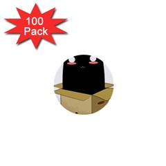 Black Cat In A Box 1  Mini Buttons (100 Pack)  by Catifornia