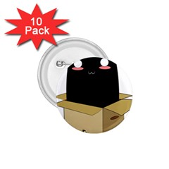 Black Cat In A Box 1 75  Buttons (10 Pack) by Catifornia