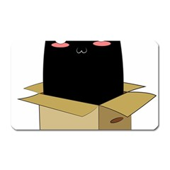 Black Cat In A Box Magnet (rectangular) by Catifornia