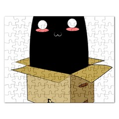 Black Cat In A Box Rectangular Jigsaw Puzzl by Catifornia