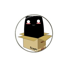 Black Cat In A Box Hat Clip Ball Marker (4 Pack)