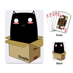 Black Cat In A Box Playing Card by Catifornia