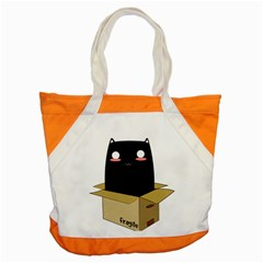 Black Cat In A Box Accent Tote Bag by Catifornia