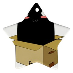 Black Cat In A Box Star Ornament (two Sides) by Catifornia