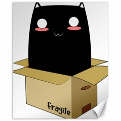 Black Cat In A Box Canvas 16  X 20   by Catifornia