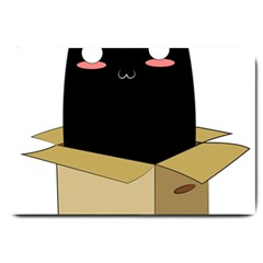 Black Cat In A Box Large Doormat  by Catifornia