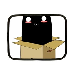 Black Cat In A Box Netbook Case (small)  by Catifornia