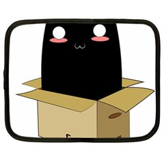 Black Cat In A Box Netbook Case (large) by Catifornia
