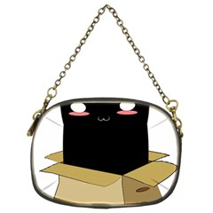 Black Cat In A Box Chain Purses (two Sides)
