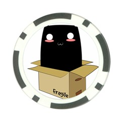 Black Cat In A Box Poker Chip Card Guard (10 Pack) by Catifornia