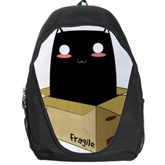 Black Cat In A Box Backpack Bag by Catifornia