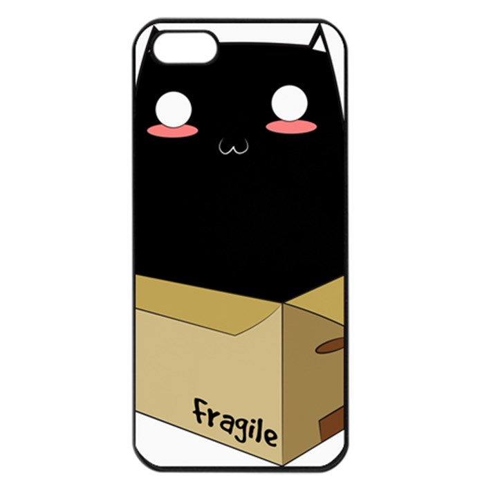 Black Cat in a Box Apple iPhone 5 Seamless Case (Black)