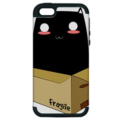 Black Cat In A Box Apple Iphone 5 Hardshell Case (pc+silicone) by Catifornia