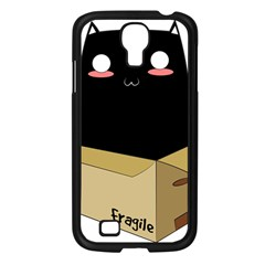 Black Cat In A Box Samsung Galaxy S4 I9500/ I9505 Case (black) by Catifornia
